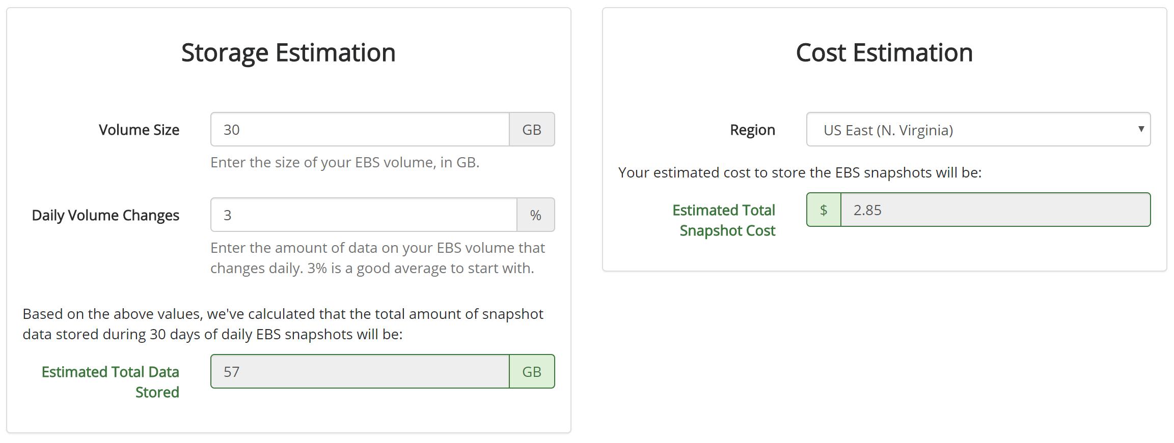 ebs snapshot cost calculator skeddly