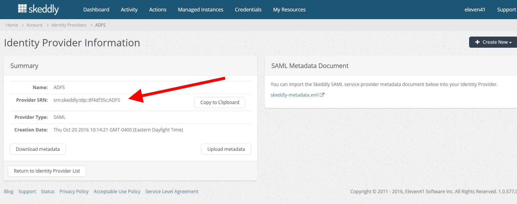 Identity Federation Using SAML   Skeddly